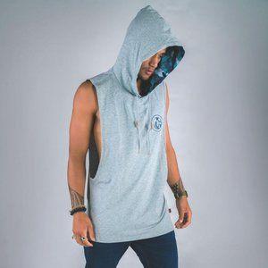 Cuzy T Men's Grey Sleeveless VII Vintage Hoodie